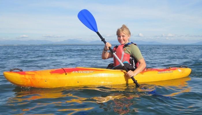 kayaker near Borthwen Anglesey