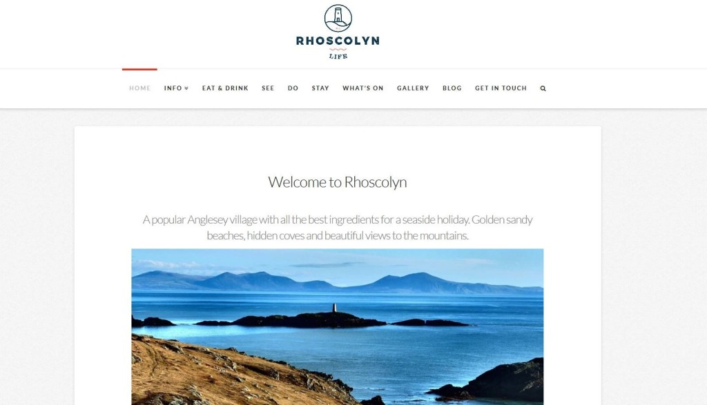 Rhoscolyn Life homepage
