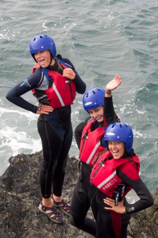 Coasteering Group on Rocks