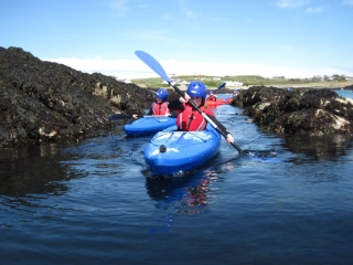 Kayakers Rhoscolyn