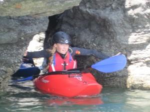 rock hopping kayaker