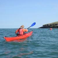 sea kayakers Puffin island