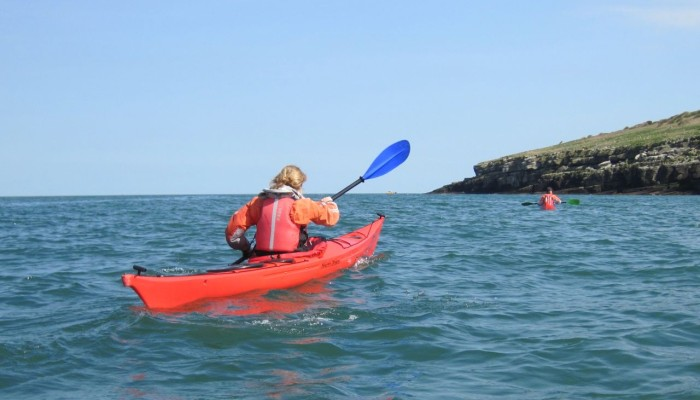 sea kayakers Puffin island