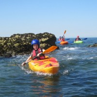 kayakers at Trearddur Bay