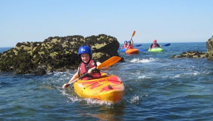 kayakers at Trearddur Bay