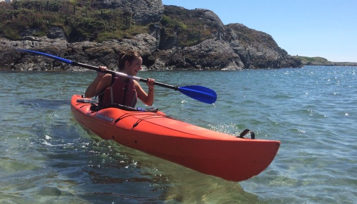 sea kayaking in Rhoscolyn