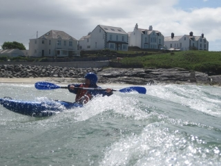 Kayak Surfing - Trearddur Bay